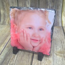 YOUR PHOTO ON SQUARE ROCK SLATE
