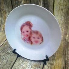 CERAMIC ROUND PLATE WITH YOUR IMAGE PLUS STAND